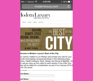 The BEST of the City 2015, press the link below and vote!  deadline Sept 15th!